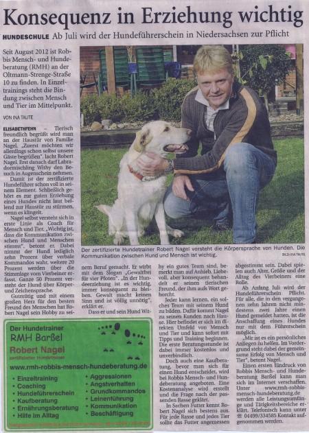 Ammerland, zertifizierter Hundetrainer, Kommunikation Hund Mensch